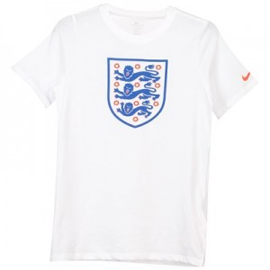 England Evergreen Crest T-Shirt - White - Kids