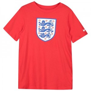 England Evergreen Crest T-Shirt - Red - Kids