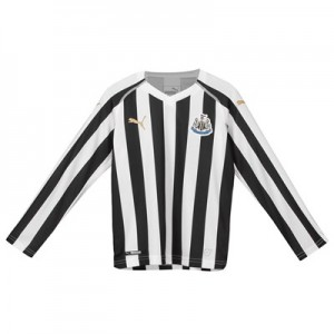 Newcastle United Home Shirt 2018-19 - Kids - Long Sleeve