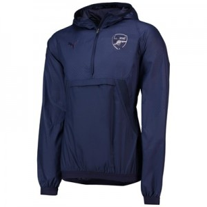 Arsenal Cup Training 1/4 Zip Thermo Vent Jacket - Navy
