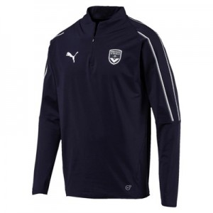 Bordeaux 1/4 Zip Training Top - Dark Blue