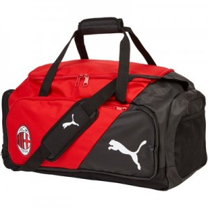 AC Milan Liga Medium Bag - Red - Black