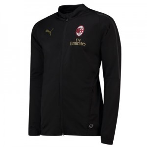 AC Milan Training Woven Jacket - Black