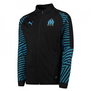 Olympique de Marseille Training Stadium Jacket - Black
