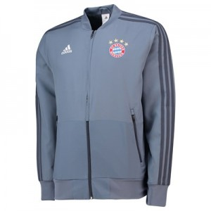 FC Bayern UCL Training Presentation Jacket - Grey