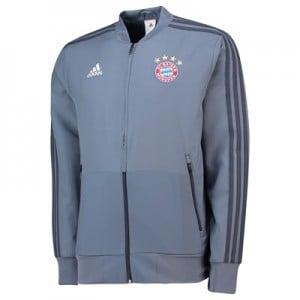 FC Bayern UCL Training Presentation Jacket - Grey