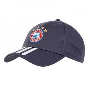 FC Bayern 3 Stripe Cap - Blue
