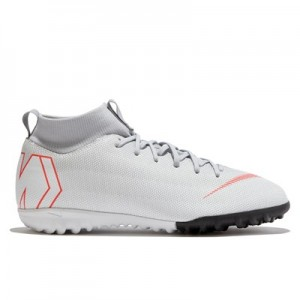 Nike MercurialX Superfly 6 Academy Astroturf Trainers - Grey - Kids