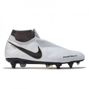 Nike Phantom Vision Elite Dynamic Fit Anti-Clog Soft Ground Football Boots - Grey