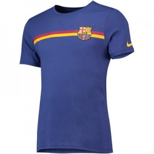 Barcelona Crest T-Shirt - Royal Blue