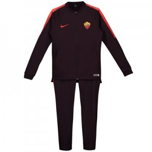 AS Roma Squad Knit Tracksuit - Burgundy - Kids
