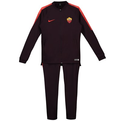 AS Roma Squad Knit Tracksuit - Burgundy - Kids