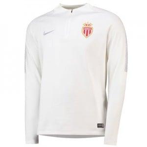 AS Monaco Squad Drill Top - White