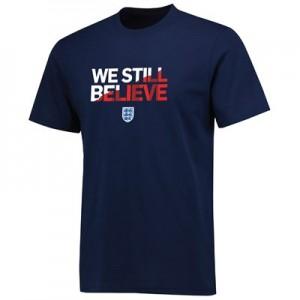 England We Still Believe Tshirt - Navy - Mens
