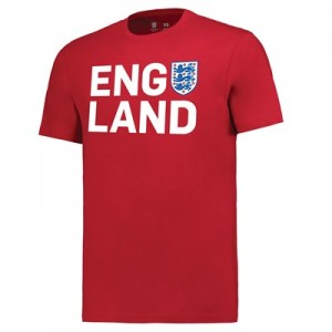 England Three Lions T-Shirt - Red - Mens