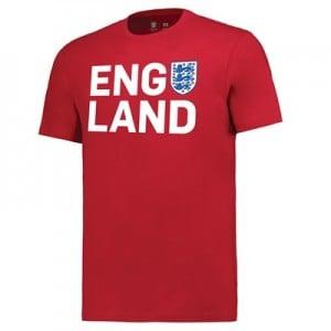 England Three Lions T-Shirt - Red - Mens