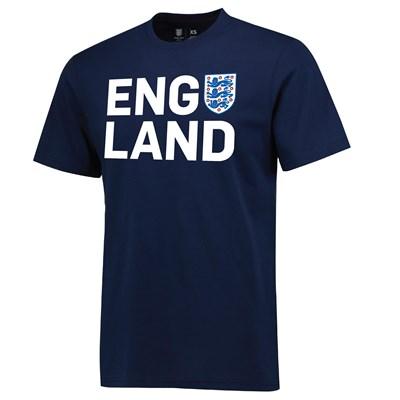 England Three Lions T-Shirt - Navy - Mens