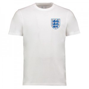 England Crest T Shirt - White - Adults