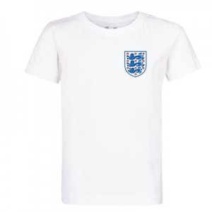 England Crest T Shirt - White - Kids
