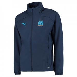 Olympique de Marseille Training Rain Jacket - Dark Blue