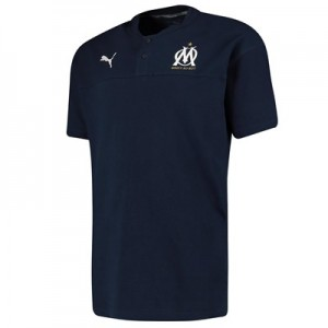 Olympique de Marseille Casuals Polo - Dark Blue