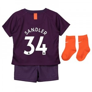 Manchester City Third Stadium Kit 2018-19 - Infants with Sandler 34 printing