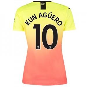 Manchester City Third Shirt 2019-20 - Womens with Kun Agüero  10 printing