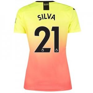 Manchester City Third Shirt 2019-20 - Womens with Silva 21 printing