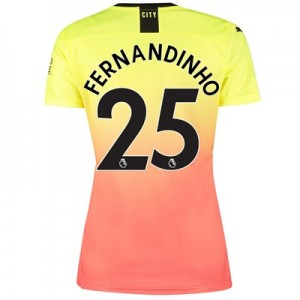 Manchester City Third Shirt 2019-20 - Womens with Fernandinho 25 printing