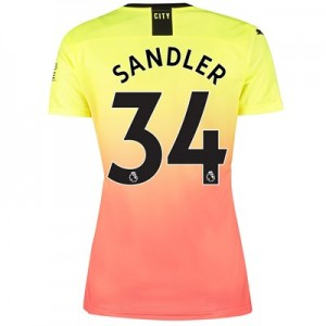 Manchester City Third Shirt 2019-20 - Womens with Sandler 34 printing