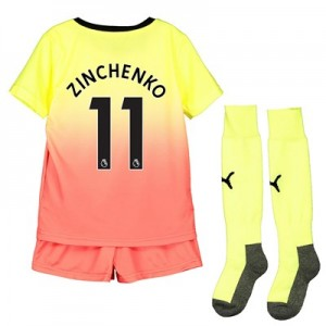 Manchester City Third Mini Kit 2019-20 with Zinchenko 11 printing