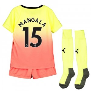 Manchester City Third Mini Kit 2019-20 with Mangala 15 printing