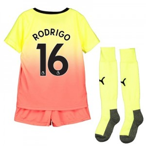 Manchester City Third Mini Kit 2019-20 with Rodrigo 16 printing