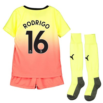Manchester City Third Mini Kit 2019-20 with Rodrigo 16 printing