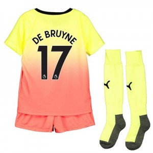 Manchester City Third Mini Kit 2019-20 with De Bruyne 17 printing
