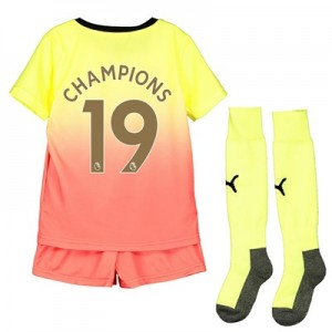 Manchester City Third Mini Kit 2019-20 with Champions 19 printing