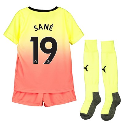 Manchester City Third Mini Kit 2019-20 with Sané 19 printing