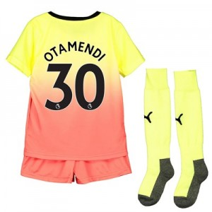 Manchester City Third Mini Kit 2019-20 with Otamendi 30 printing