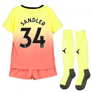 Manchester City Third Mini Kit 2019-20 with Sandler 34 printing