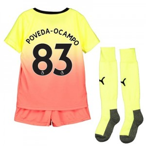 Manchester City Third Mini Kit 2019-20 with Poveda-Ocampo 83 printing