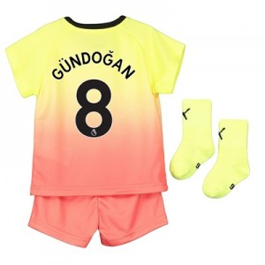 Manchester City Third Baby Kit 2019-20 with Gündogan 8 printing