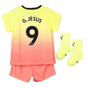 Manchester City Third Baby Kit 2019-20 with G.Jesus 9 printing