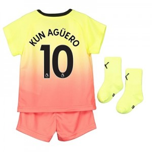 Manchester City Third Baby Kit 2019-20 with Kun Agüero  10 printing