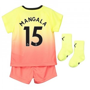 Manchester City Third Baby Kit 2019-20 with Mangala 15 printing