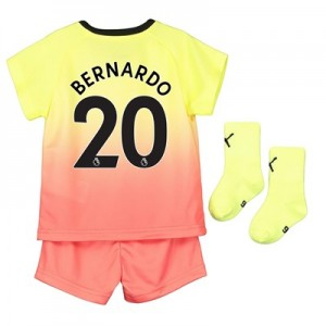 Manchester City Third Baby Kit 2019-20 with Bernardo 20 printing