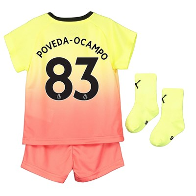Manchester City Third Baby Kit 2019-20 with Poveda-Ocampo 83 printing