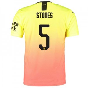 Manchester City Authentic Cup Third Shirt 2019-20 with Stones 5 printing