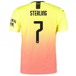 Manchester City Authentic Cup Third Shirt 2019-20 with Sterling 7 printing