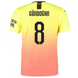 Manchester City Authentic Cup Third Shirt 2019-20 with Gündogan 8 printing