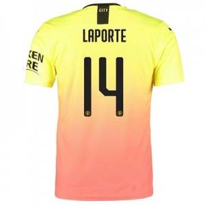 Manchester City Authentic Cup Third Shirt 2019-20 with Laporte 14 printing